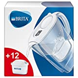 BRITA Wasserfilter Marella weiß inkl. 12 MAXTRA+ Filterkartuschen – BRITA Filter Starterpaket zur...